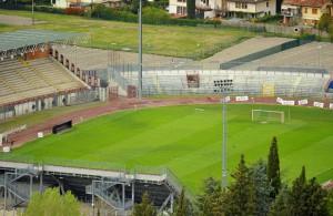 arezzo viale gramsci stadio comunale città di arezzo partita di calcio amichevole di allenamento atletico arezzo rappresentativa lega serie d girone e - nella foto: